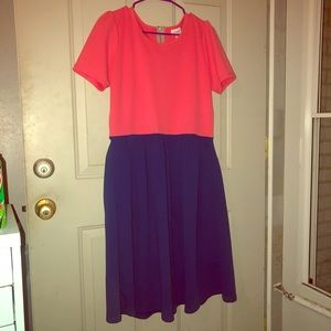 Lularoe XL Amelia Dress! Has pockets! 💙💗